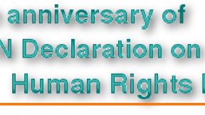 20th anniversary of the UN Declaration on Human Rights Defenders