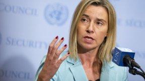 L'Alto rappresentante Federica Mogherini in seguito ad un meeting del Quartetto per il Medio Oriente