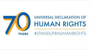Logo for the 70th anniversary of the Universal Declaration of Human Rights