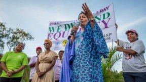 La vice Segretario Generale dell'ONU Amina Mohammed all'International Women's Day 2020 Walk for Life in Papua Nuova Guinea