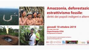 Incontro: Amazzonia, deforestazione, estrattivismo fossile: diritti dei popoli indigeni e alternative