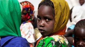 Ritratto di bambina in Darfur
