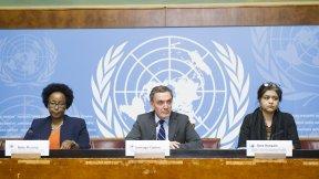 Membri della commissione d'inchiesta sulle proteste nei territori palestinesi occupati