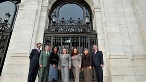 Da destra: Felipe González, José de Jesús Orozco Henríquez, Tracy Robinson, Dinah Shelton, Rose-Marie Belle Antoine, Rosa María Ortiz, Rodrigo Escobar Gil