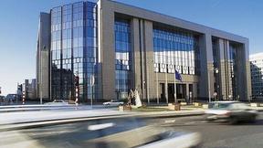 Vista della sede del Consiglio dell'Unione Europea, Bruxelles