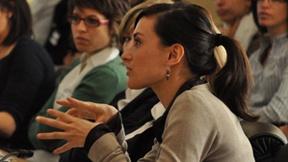 Alcuni studenti della Laurea magistrale in diritti umani dell'Università di Padova, durante una riunione presso il palazzo Wilson (Ginevra) in occasione del viaggio di studio alle Nazioni Unite (9-13 maggio 2010).