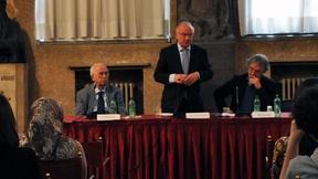 Antonio Papisca, Luc Van den Brande, Léonce Bekemans - Jean Monnet Public Lecture by Luc Van den Brande, Università di Padova, 16 aprile 2013