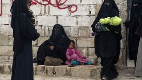 Displaced Syrian women and children at al-Hol