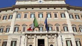 Veduta della Facciata di Palazzo Montecitorio