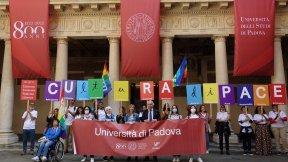 """Flash mob """"Cultura di Pace"""", Padova 5 ottobre 2021"""
