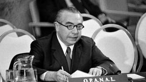 Hector Gros Espiell, Segretario Generale dell'Agenzia per la proibizione delle armi nucleari in America Latina (OPANAL), parla al Consiglio di Sicurezza ONU, marzo 1973