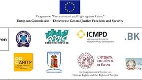 Logo del progetto AGIRE coordinato da Save the Children Italia ONLUS e ospitato dal Centro Diritti Umani dell'Università di Padova (2010)