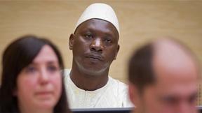 Il leader delle Forze patriottiche di Liberazione del Congo Thomas Lubanga Dylo in attesa della sentenza della Corte Penale Internazionale, 2012