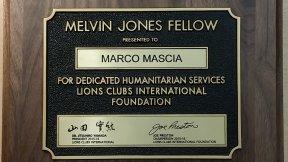 Il prof. Marco Mascia, Direttore del Centro di Ateneo per i Diritti Umani dell'Università di Padova, è stato insignito della Melvin Jones Fellowship, giugno 2016