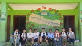 Shree Koldaung Devi Secundary School (Meshipa, Sindhupalchok), students and professor