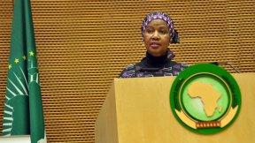 Phumzile Mlambo-Ngcuka (UN Women Executive Director) durante l'apertura del secondo Forum dell'African Women Leaders Network