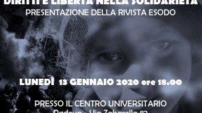 """Presentazione rivista Esodo """"Diritti e libertà nella solidarietà"""", Padova"""