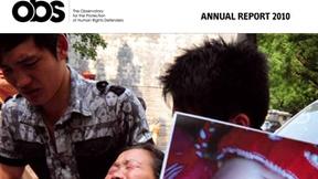 Copertina del Rapporto annuale 2010 dell'Osservatorio per la protezione dei difensori dei diritti umani
