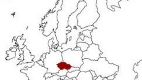 Czech Repubblic is highlighted on the Europe map