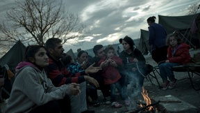 Rifugiati siriani nel campo di Harmanli, in Bulgaria, a 50 km dal confine tra la Turchia e Bulgaria