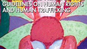 "Copertina del resoconto delle Nazioni Unite ""Recommended principles and guidelines on human rights and human trafficking"", 2010"