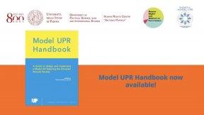 Model UPR Handbook launch