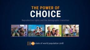 UNFPA, stato della popolazione nel mondo 2018, Il potere della scelta. Diritti riproduttivi e transizione demografica, copertina