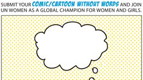 Locandina della Comic & Cartoon Competition sull'uguaglianza di genere