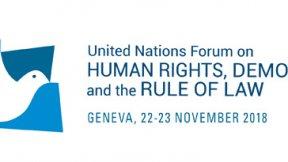 Forum delle Nazioni Unite sui diritti umani, la democrazia e lo stato di diritto, logo 2018
