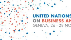 Logo of the United Nations Forum on Business and Human Rights, 26-28 November 2018