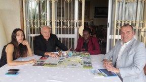 Incontro tra la studentessa Sati Elifcan Ozbek, Giorgio Andrian e la Caritas di Moroto, Kampala, Uganda