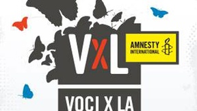 Logo of the musical competition Voci per la libertà. Una canzone per Amnesty