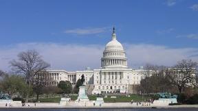 Vista del lato ovest del Campidoglio, Washington DC