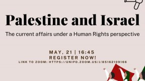SET community conversation, May 21. Palestine and Israel, the current affairs under a Human Rights perspective