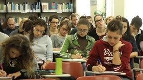 Students attending the First round of the Padua Human Rights Laboratory for the Master degree programme in Human Rights and Multi-level Governance, Human Rights Centre, novembre 2013