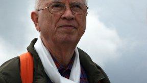 Primo piano del Prof. Antonio Papisca sul Monte Verena, Tutti i diritti umani per tutti, 8 agosto 2008