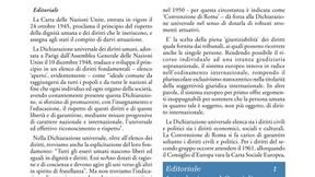 """Copertina del Bollettino """"Archivio Pace Diritti Umani - Peace Human Rights""""."""