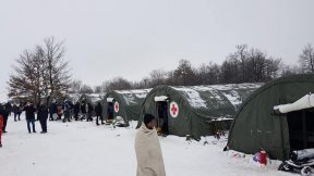 Campo rifugiati di Lipa Balcani