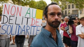 French farmer Cédric Herrou, who received a four-month suspended jail sentence in August 2017 for helping some migrants to crossing the Italian-French border.