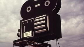 Foto di una macchina da presa cinematografica