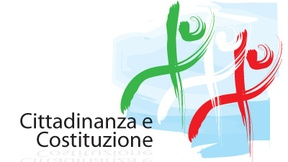 Logo del Miur per la pubblicazione del Documento d'indirizzo del marzo 2009. Rappresenta tre figure stilizzate nei tre colori della bandiera italiana