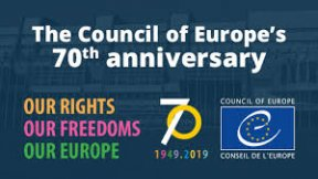 Council of Europe's 70th anniversary (1949-2019), logo