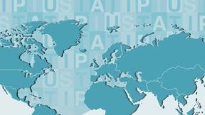 """Immagine di un planisfero con la scritta """"cooperazione allo sviluppo"""", ad indicare il ruolo attivo della Regione del Veneto in materia di cooperazione decentrata e solidarietà internazionale"""