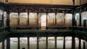 View of the ancient courtyard of Bo palace, Headquarters of the University of Padua