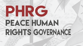 Copertina Peace Human Rights Governance Journal PHRG - 2017