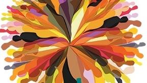 Immagine dell'Unesco di un Fiore colorato formato dalle sagome di molte persone per rappresentare la diversità culturale.