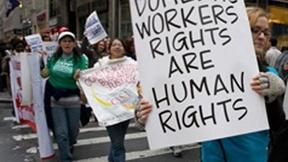 Manifestazione in favore dei diritti dei lavoratori domestici