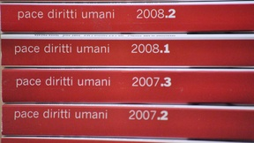 Picture of volumes of Review Pace diritti umani - Peace human rights, issued by the Human Rights Centre
