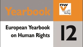 Deatail of the Cover of the European Yearbook of Human Rights 2012