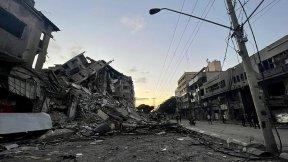 Destruction in Gaza following Israeli air strike 13 May 2021
